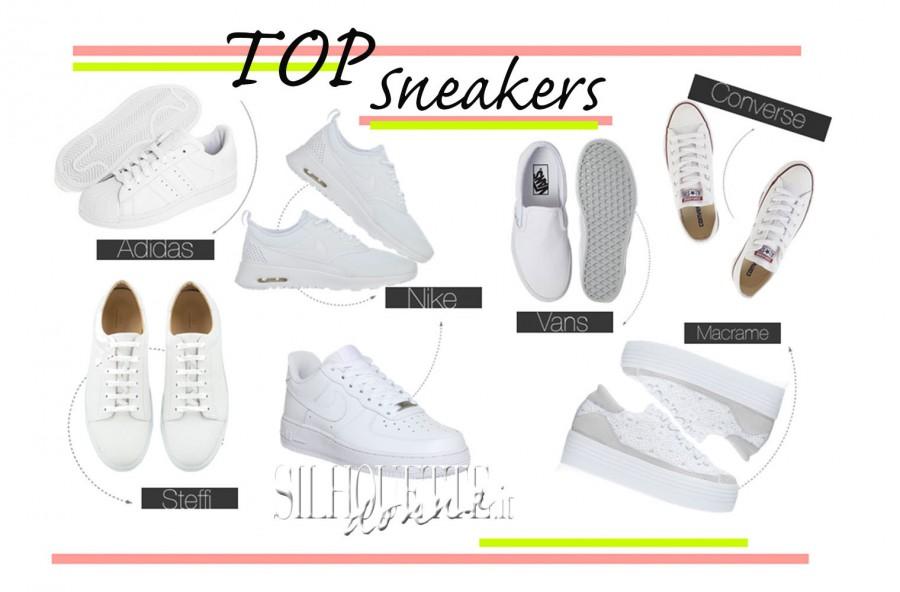 """Sneakers """"total white"""" per l'estate"""