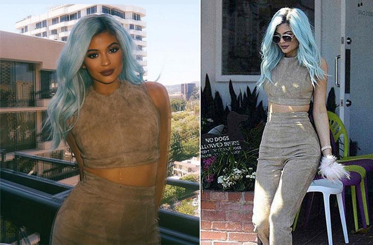 Capelli azzurri: il look giusto di Kylie Jenner