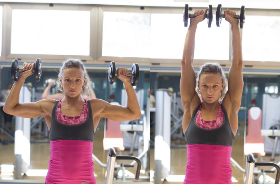 Shoulder press per allenare le spalle