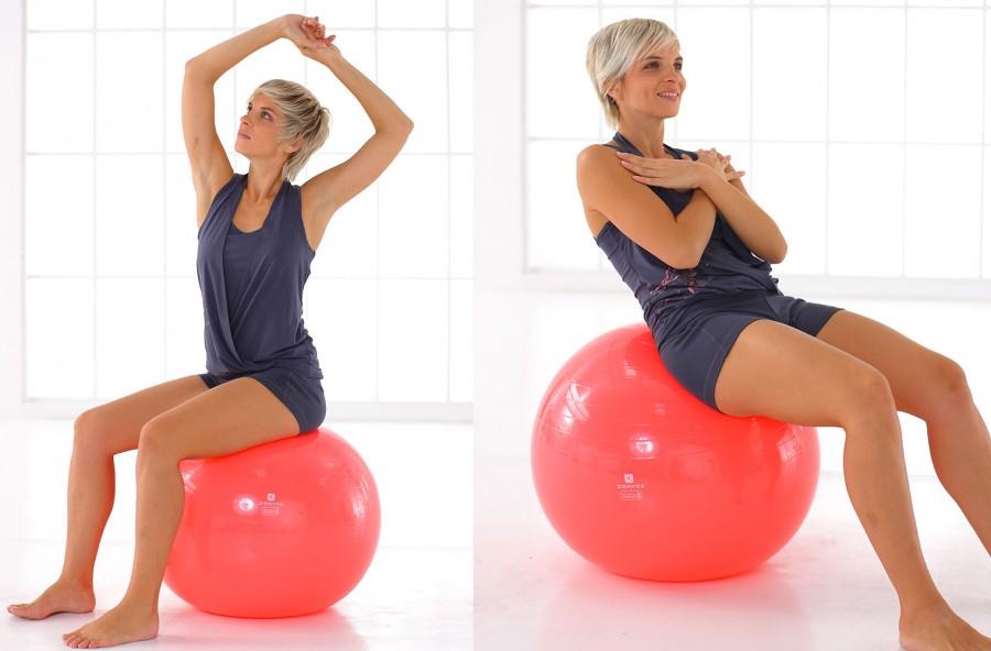 Pancia piatta: 4 esercizi con la Fit-ball