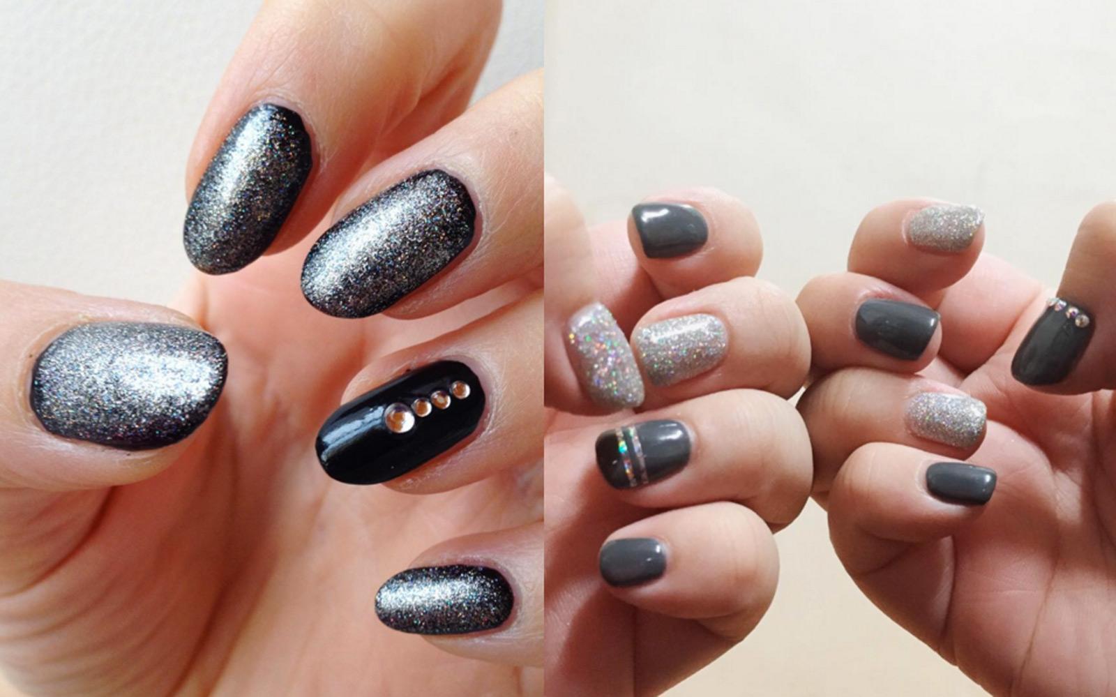Brillantini unghie unghie dark con glitter e brillantini for Immagini con brillantini