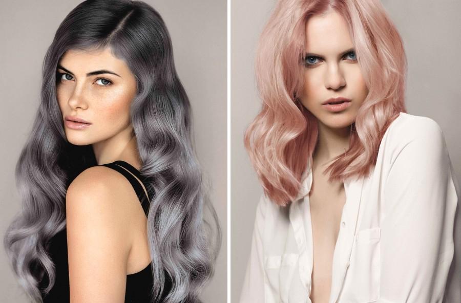Tendenza colore capelli: nuance metalliche dal rosa all'argento