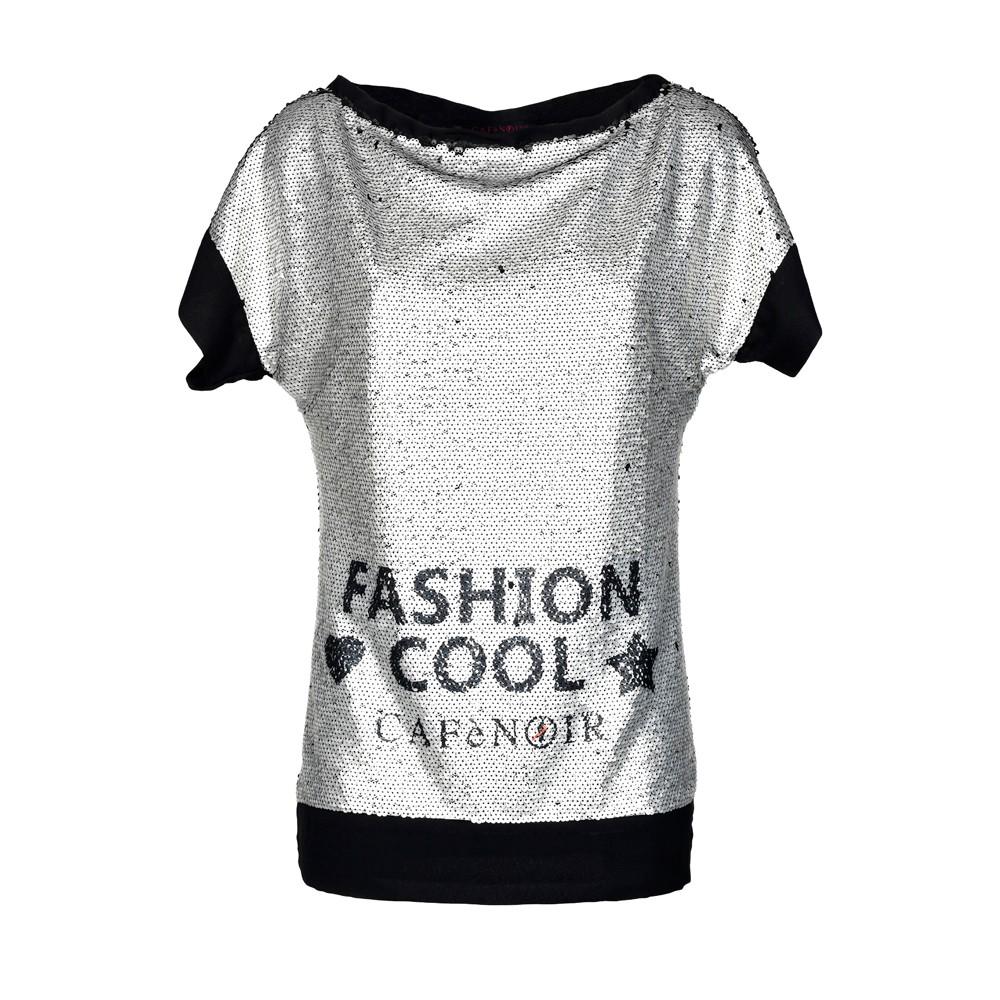 CafèNoir -T-shirt con paillettes (euro 55)