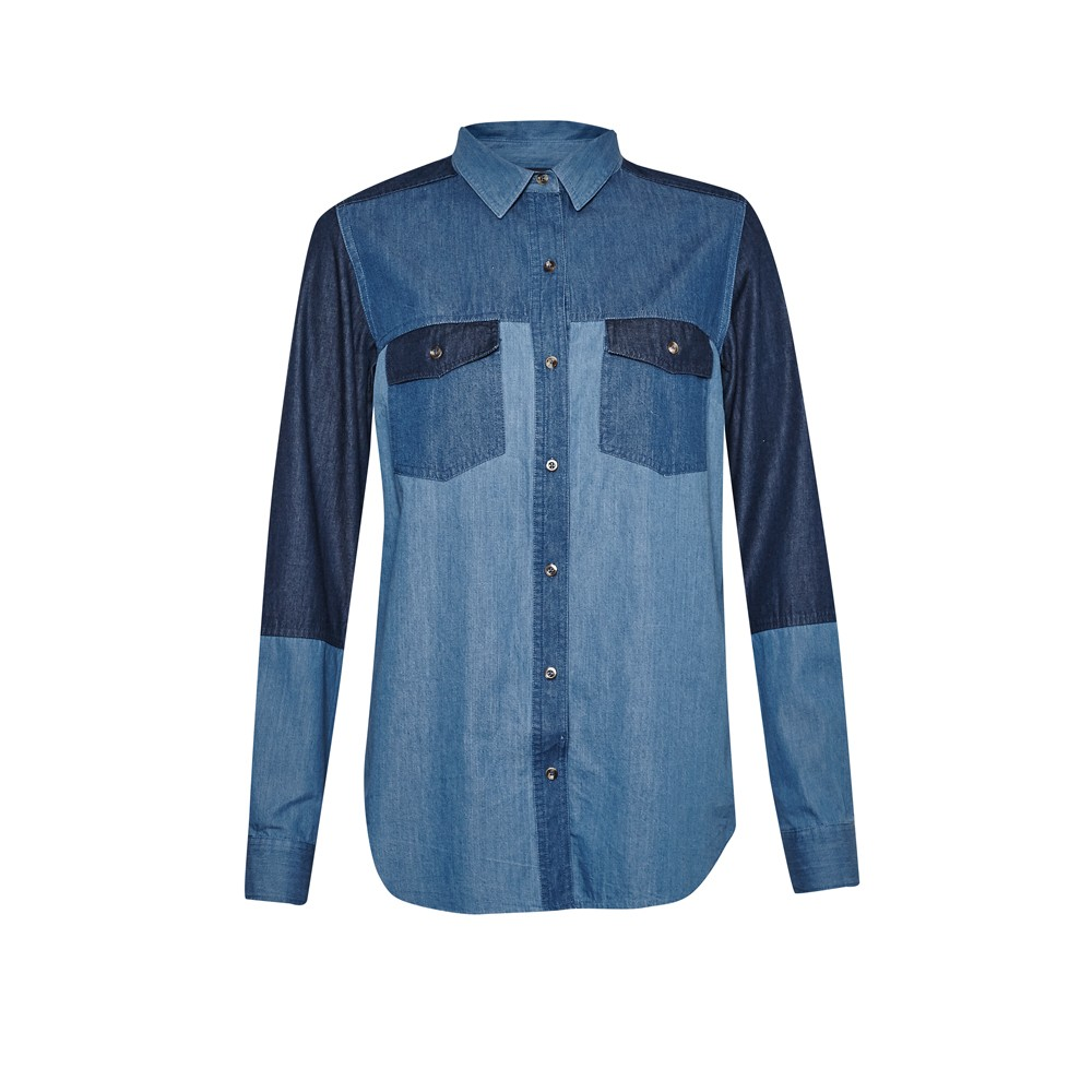 French connection – camicia patchwork in denim (euro 80)