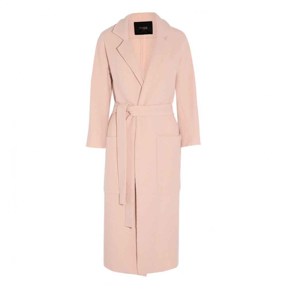 Maje – cappotto lungo con cintura (euro 425)