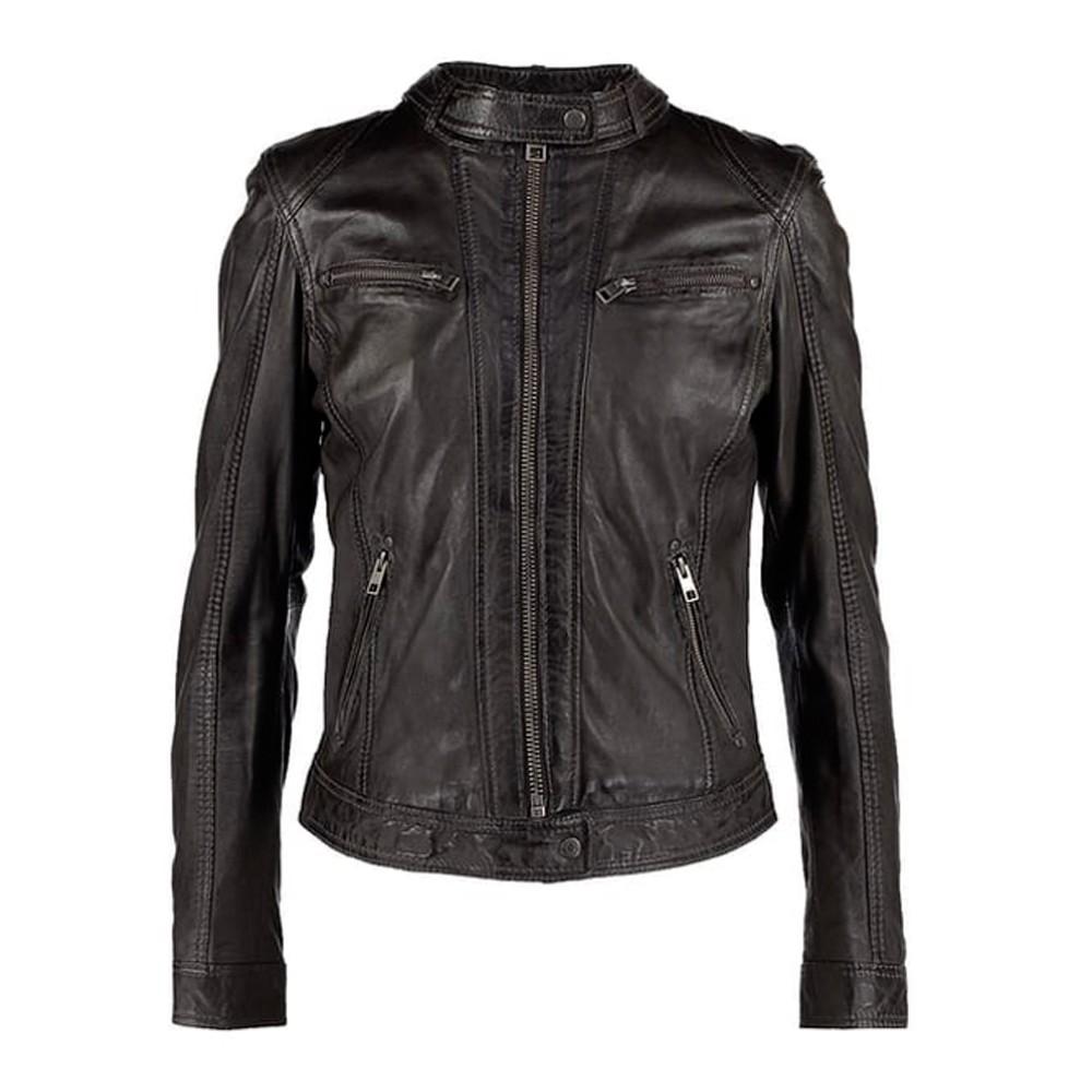 Oakwood – giacca di pelle gris fonce (euro 160)