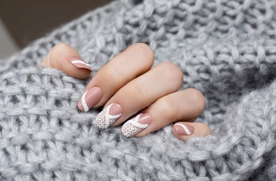 "Nail art ""effetto tricot"""