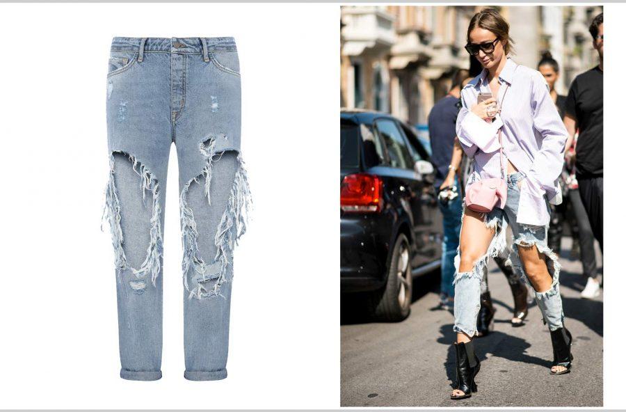 Moda street-style: come si portano i jeans strappati