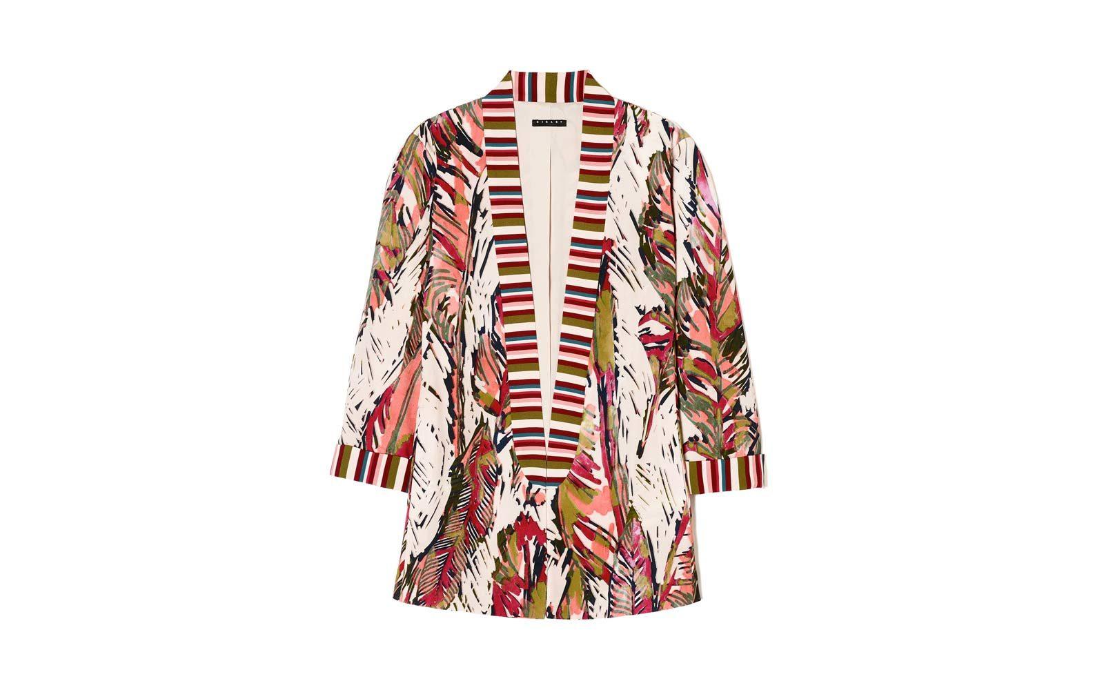 Sisley – giacca a righe e stampa palme (a partire da euro 114)
