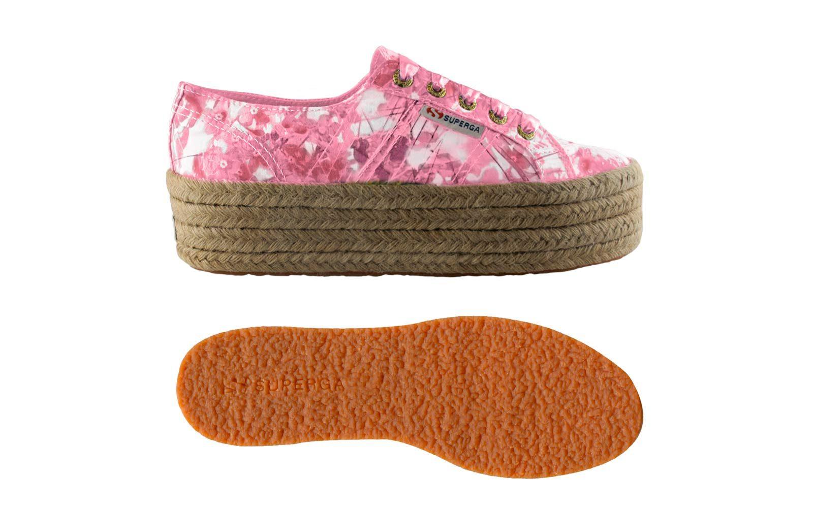 Superga – scarpe con zeppa e corda e con tomaia in tessuto (euro 85)
