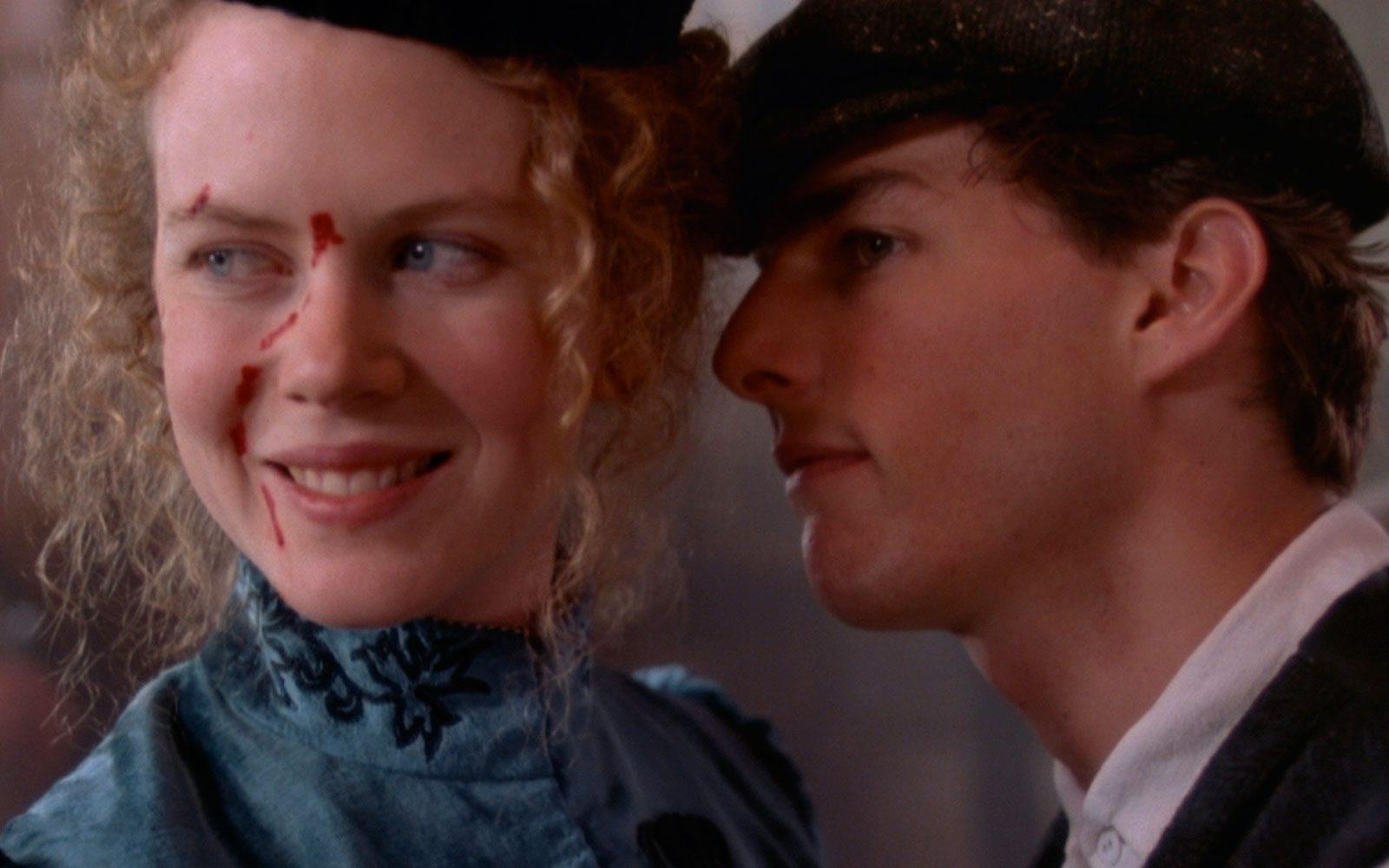 """""""Cuori ribelli"""" (1992) Secondo film accanto Tom Cruise, è diretto da Ron Howard e ambientato nell'Ottocento. Prima prova in costume per la giovane Nicole, ancora lentigginosa e riccissima, nel ruolo di un'elegante signorina di buona famiglia"""