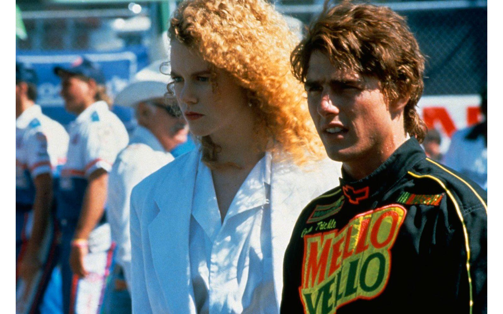 """""""Giorni di tuono"""" (1990). Il film in cui compare all'improvviso, giovane partner di scena e non solo dell'allora famosissimo Tom Cruise. Gli anni 80 erano appena finiti e si vede: massa di capelli ricci e selvaggi e viso ancora tondo da post-adolescente."""