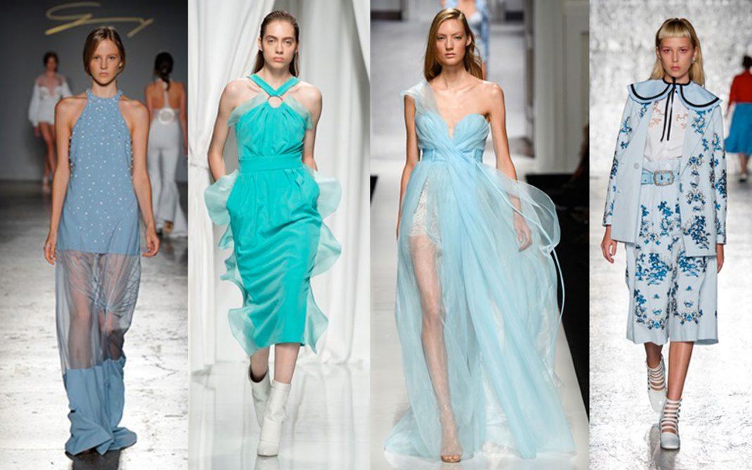 Trend Moda Lestate Si Tinge Di Azzurro Silhouette Donna