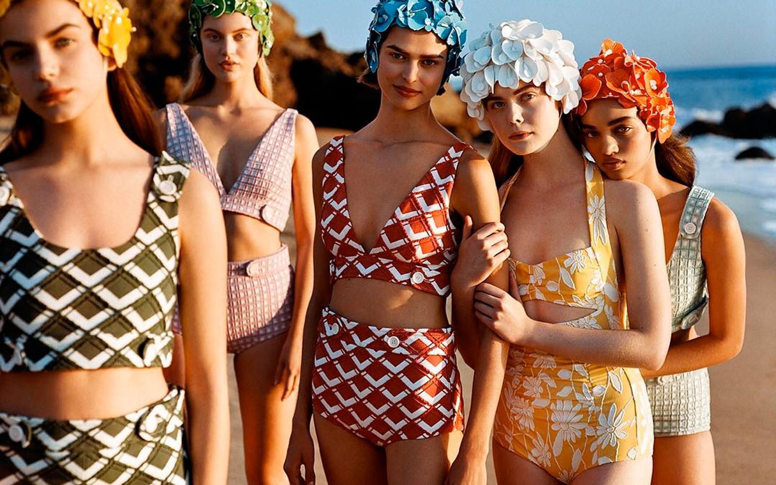 Sognare Costume Da Bagno Rosso : Trend estate costumi da bagno dal sapore rétro silhouette