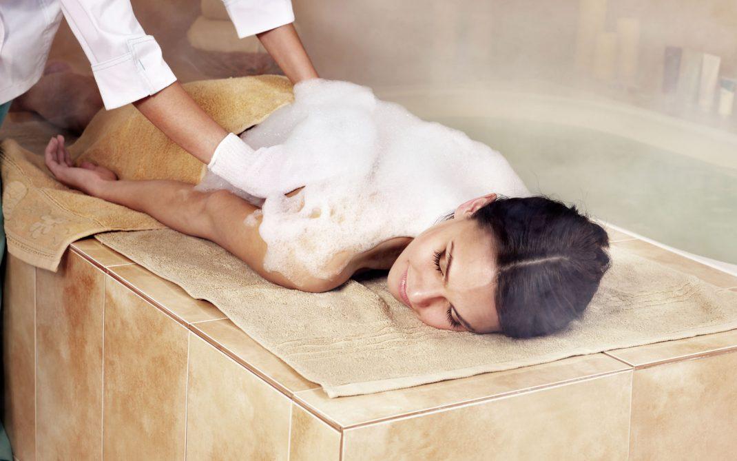 Massaggio schiuma