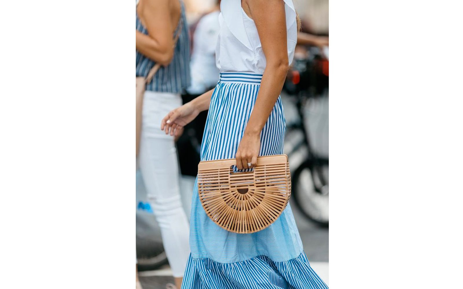 Cult Gaia Large Bamboo Ark Bag