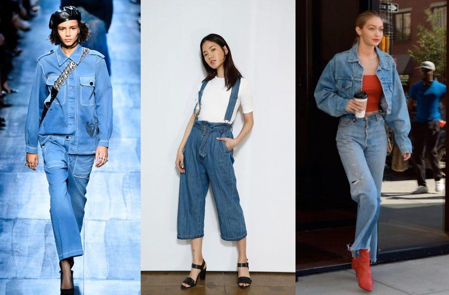 Trend moda, blue denim… but total