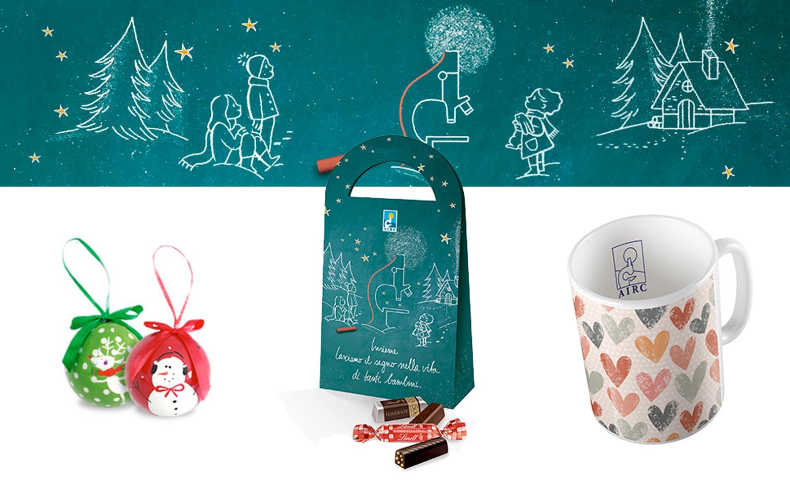 Biglietti Di Natale Airc.A Natale Insieme Ad Airc Per Costruire Un Futuro Libero Dai Tumori Pediatrici Silhouette Donna