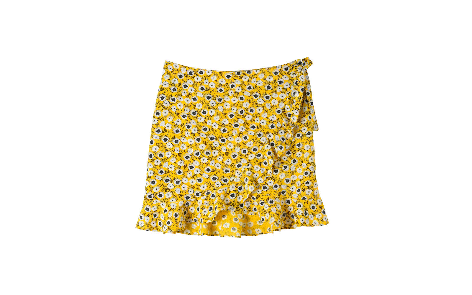 KIABI gonnellina in cotone giallo e fantasia  floreale.  15 euro     www.kiabi.it