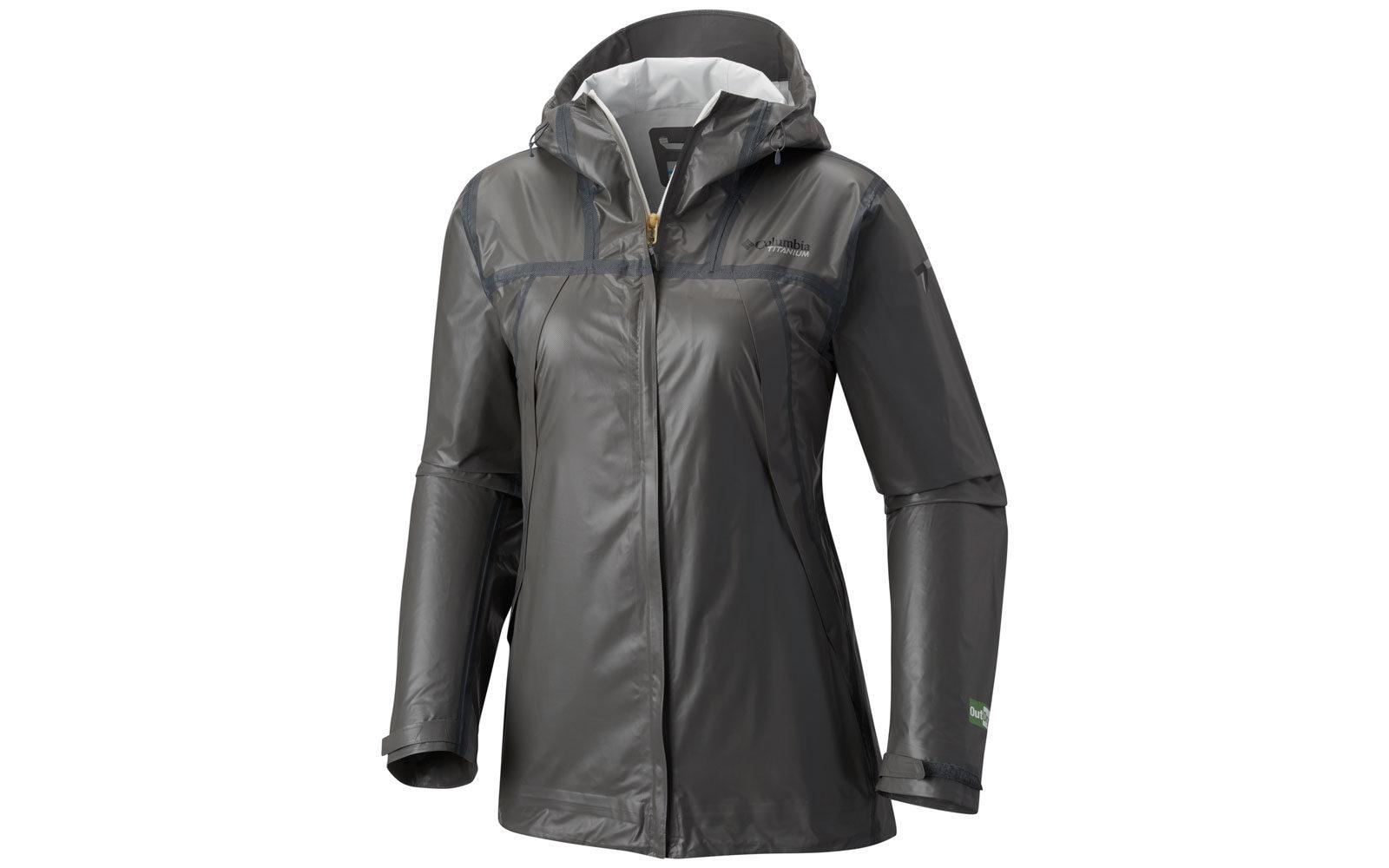 Columbia Outrdy Ex Eco Tech Shell, una giacca ecologica in tessuto riciclato, con membrana esterna waterproof e pigmenti vegetali ricavati dal bambù, euro 199,95
