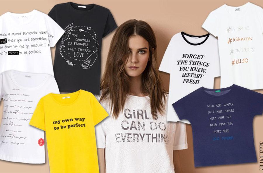 Moda P/E 2018: dillo con una T-shirt