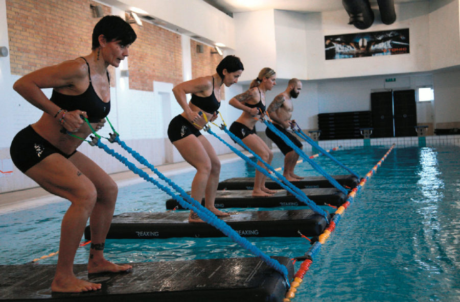 Acquafitness: in equilibrio instabile sul Reax Raft