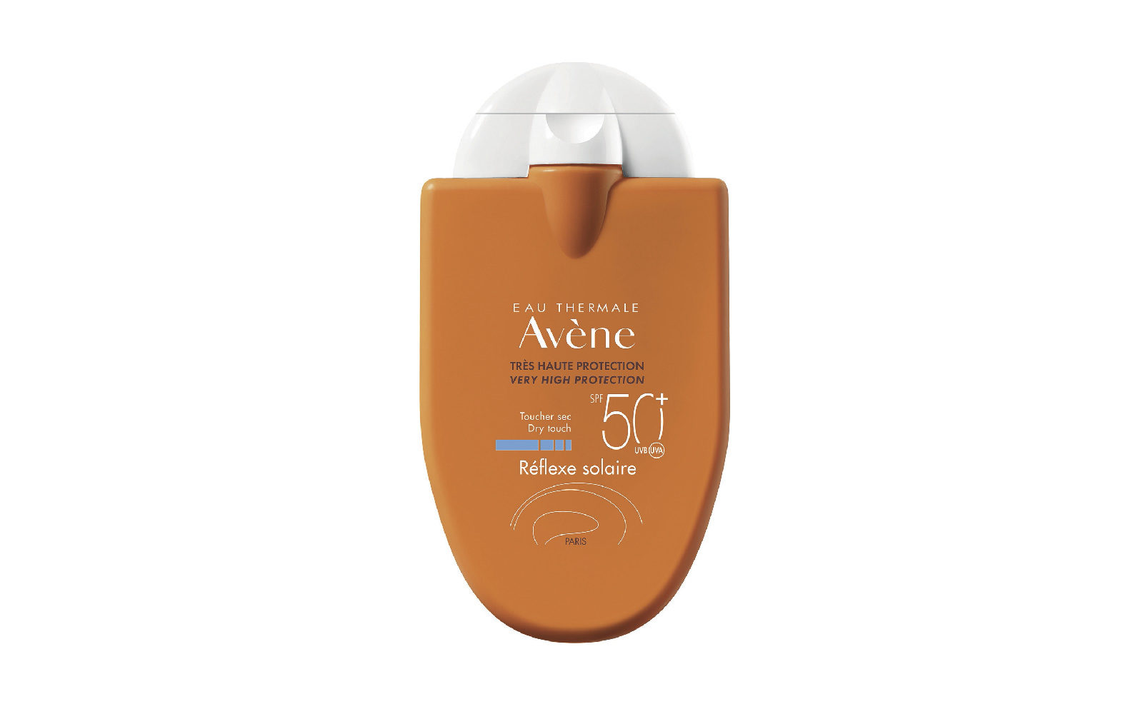 Réflexe Solaire Spf50+ di Eau Thermale Avène ha un formato tascabile extra-piatto, adatto in vacanza e in città (farmacia, 15,90 euro).