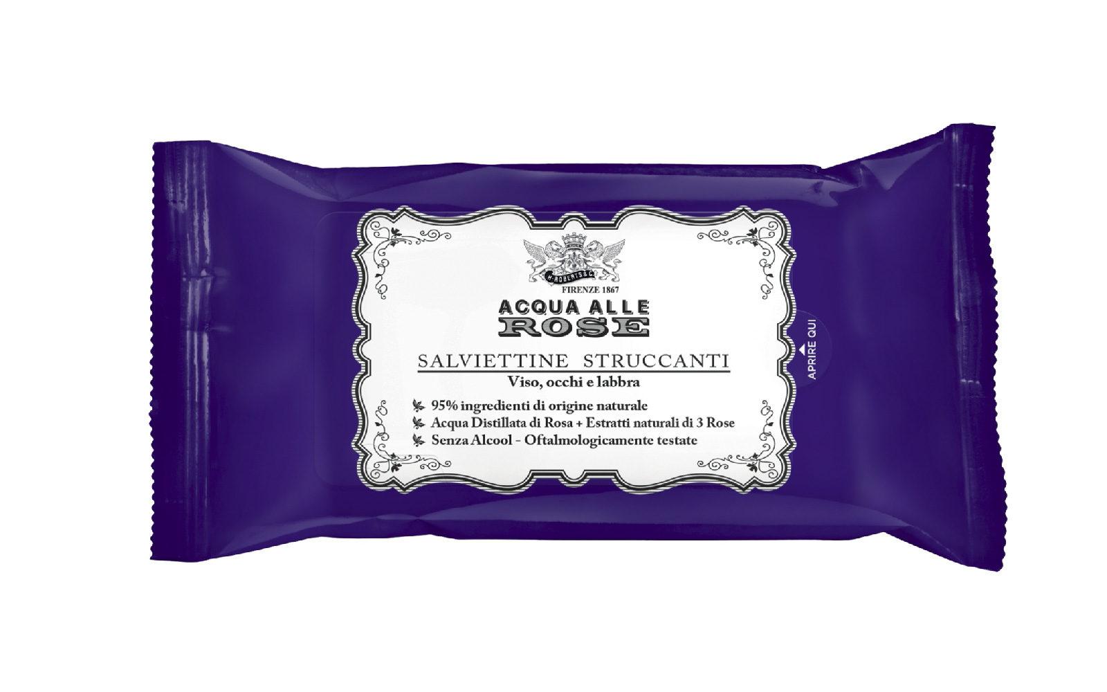 Le Salviettine Struccanti Acqua Alle Rose Manetti & Roberts diventano prêt-à-porter (grande distribuzione, 1,69 euro)