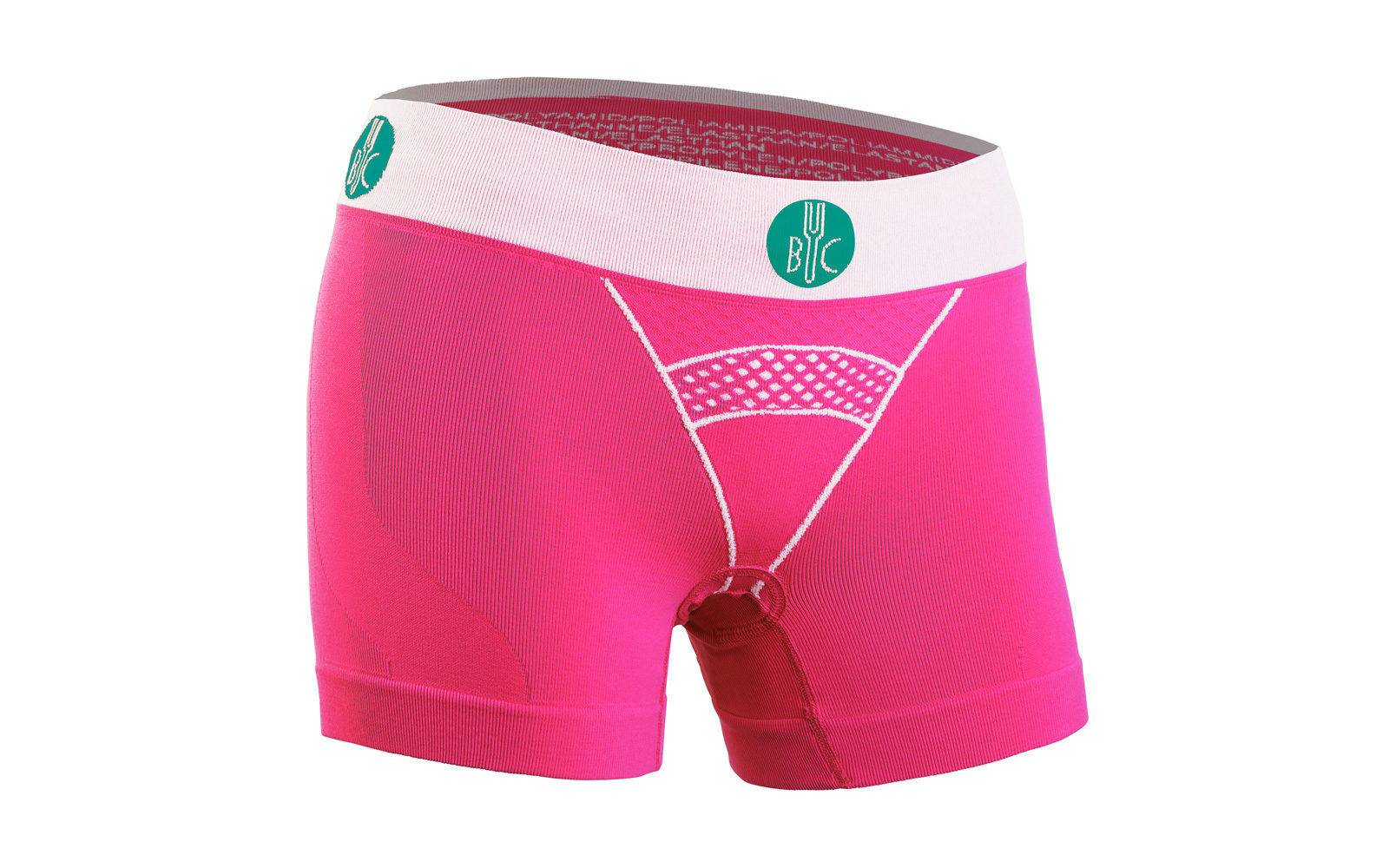 For.Bicy boxer lady, in tessuto seamless, con fondello amovibile in gel da 4mm, trattamento antibatterico e sistema di bloccaggio antispostamento, euro 59