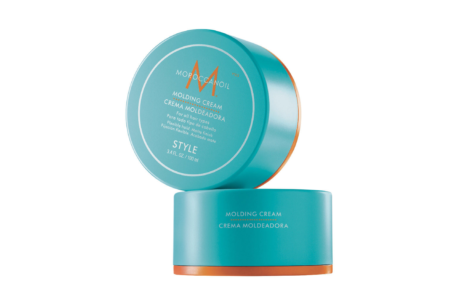 Moroccanoil Molding Cream cura i capelli e al tempo stesso conferisce tenuta flessibile, per garantire uno stile perfetto (salone, 30,45 euro).