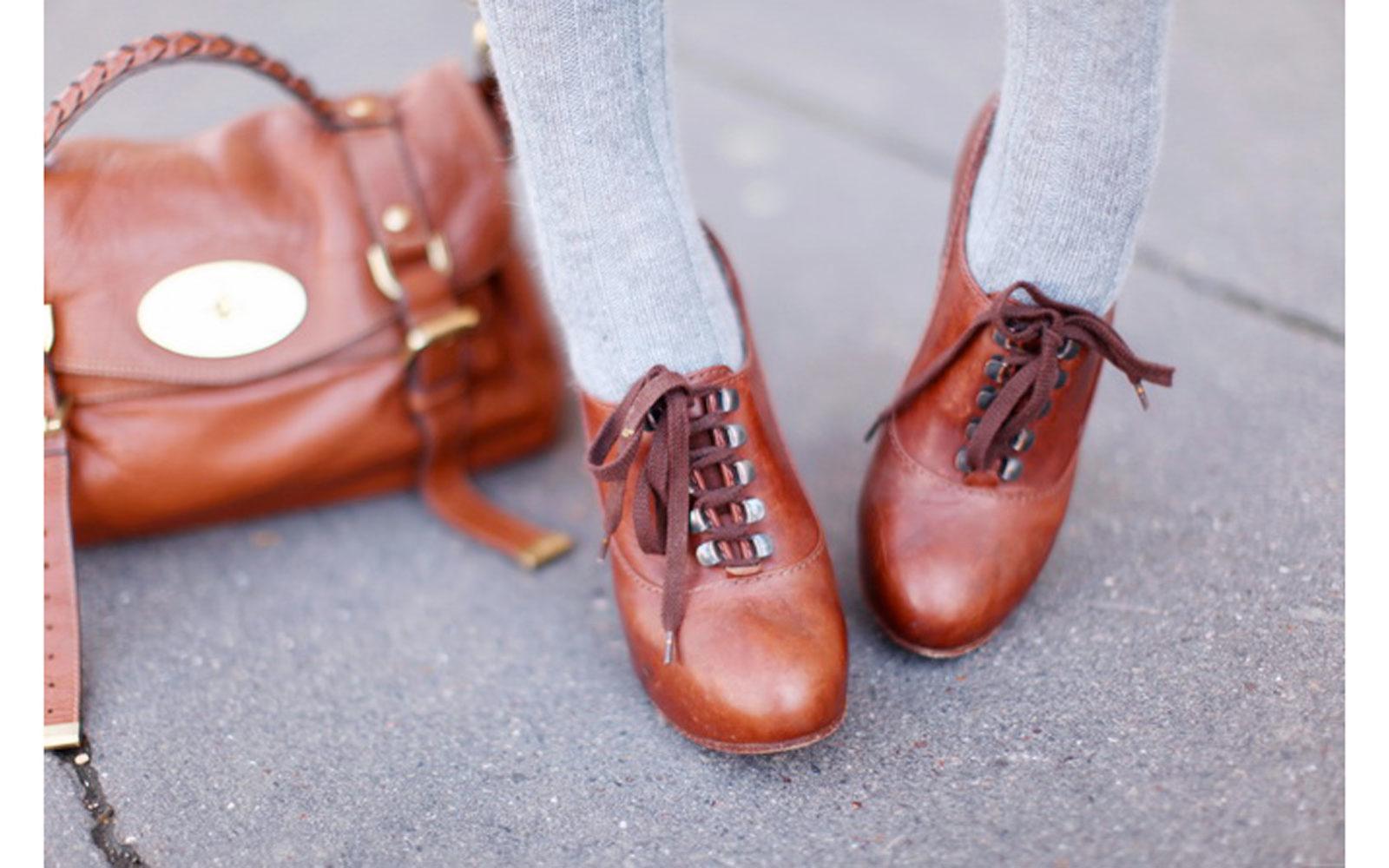 Postina Mulberry, francesine in cuoio Chloé, socks Asos