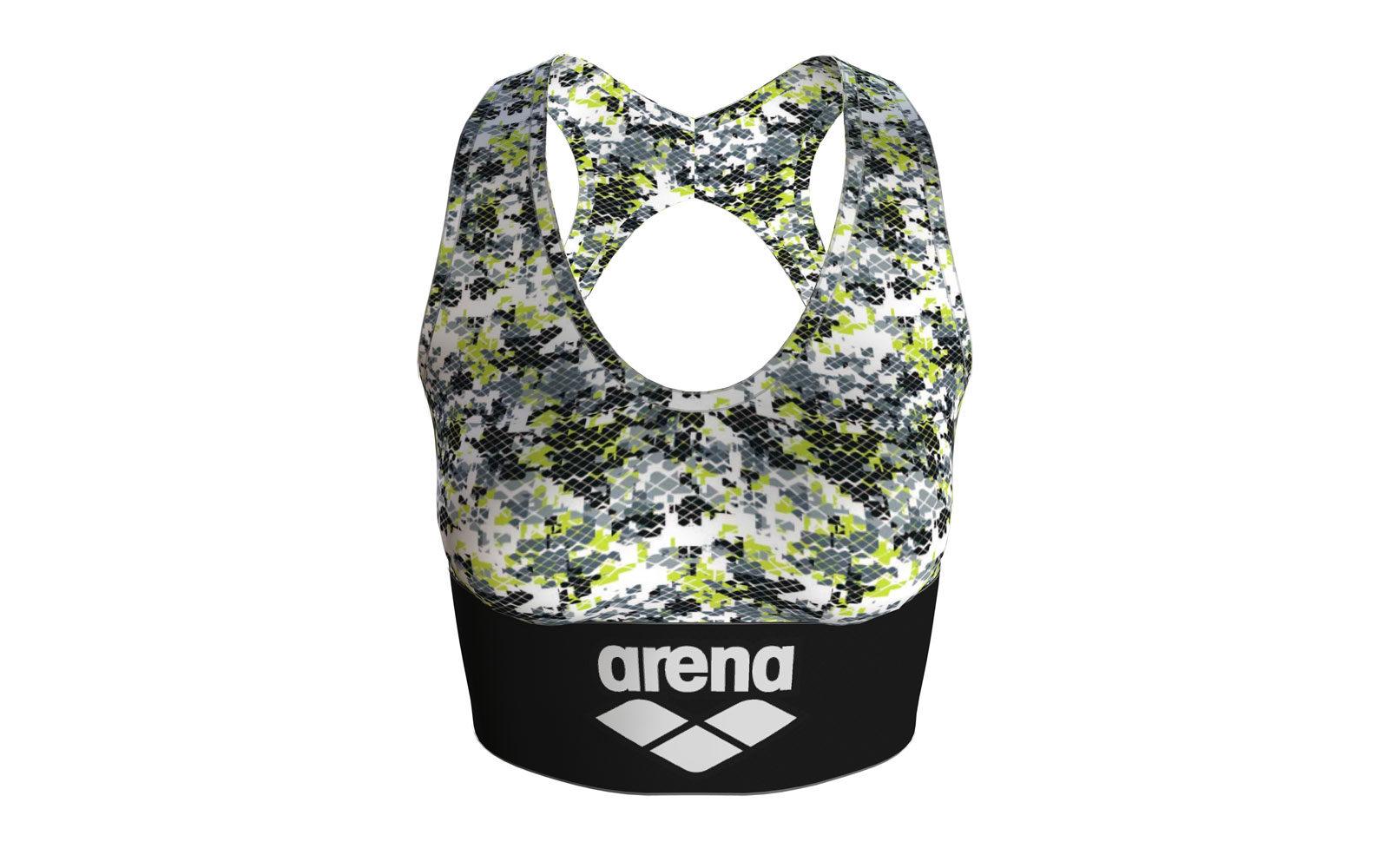 Arena Gym Bra-Top, esternabile in tessuto tecnico traspirante, con scollo a barca, euro 33