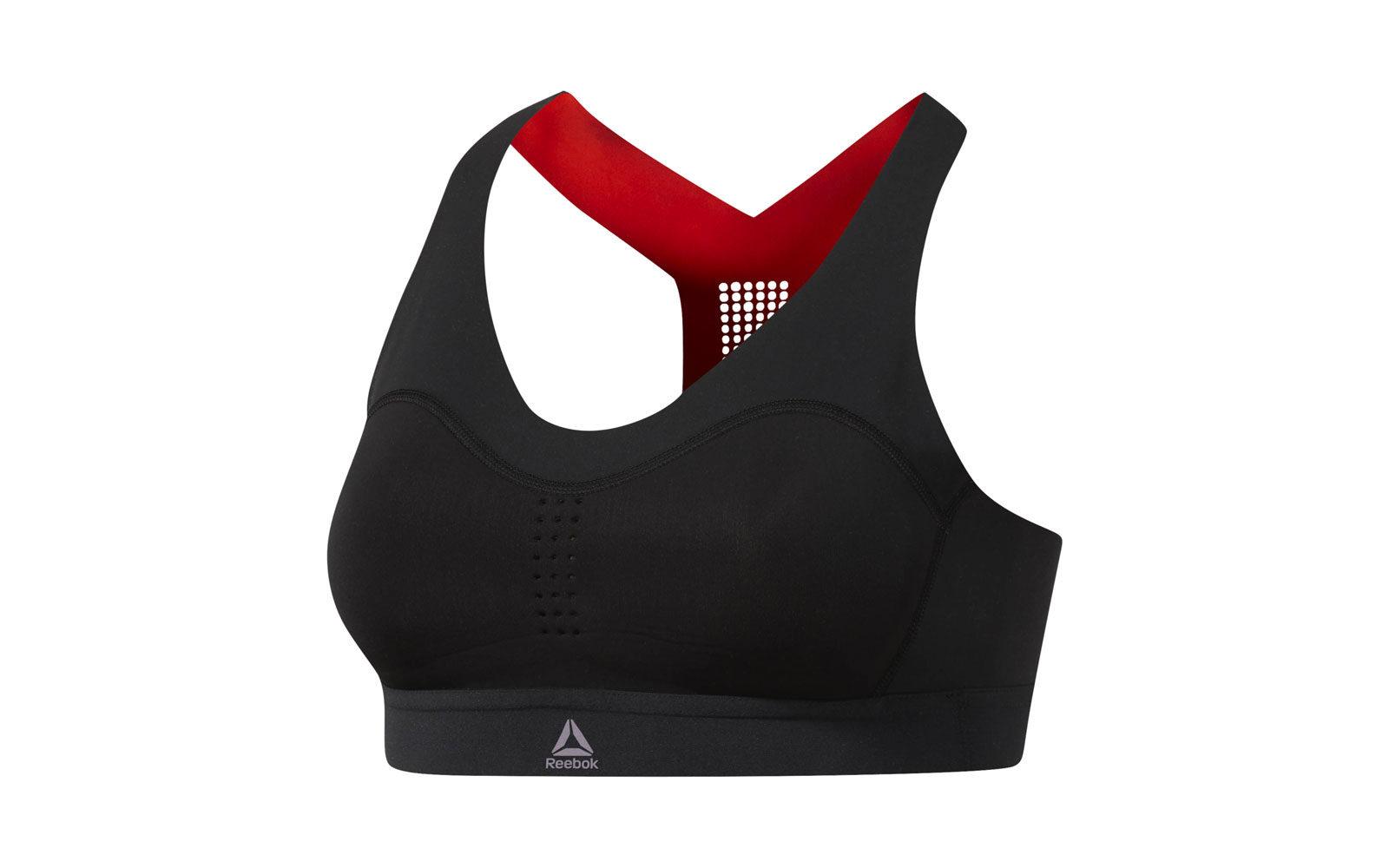 Reebok Pure Move Bra, con tecnologia Motion Sense per supporto e controllo personalizzati, tessuto con gel che si solidifica quando i movimenti aumentano, preformato, design seconda pelle, traforatura traspirante, euro 60