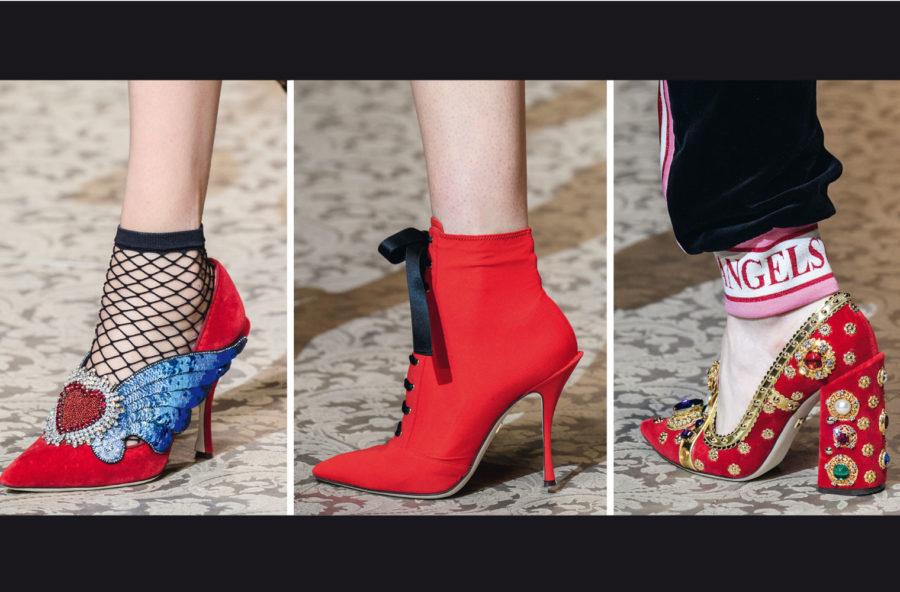 Trend accessori 2018/19: le scarpe? Simply red
