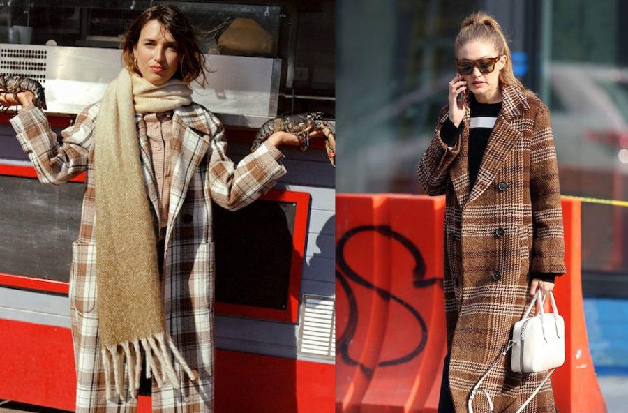 Moda inverno 2019, il cappotto a quadri è glam