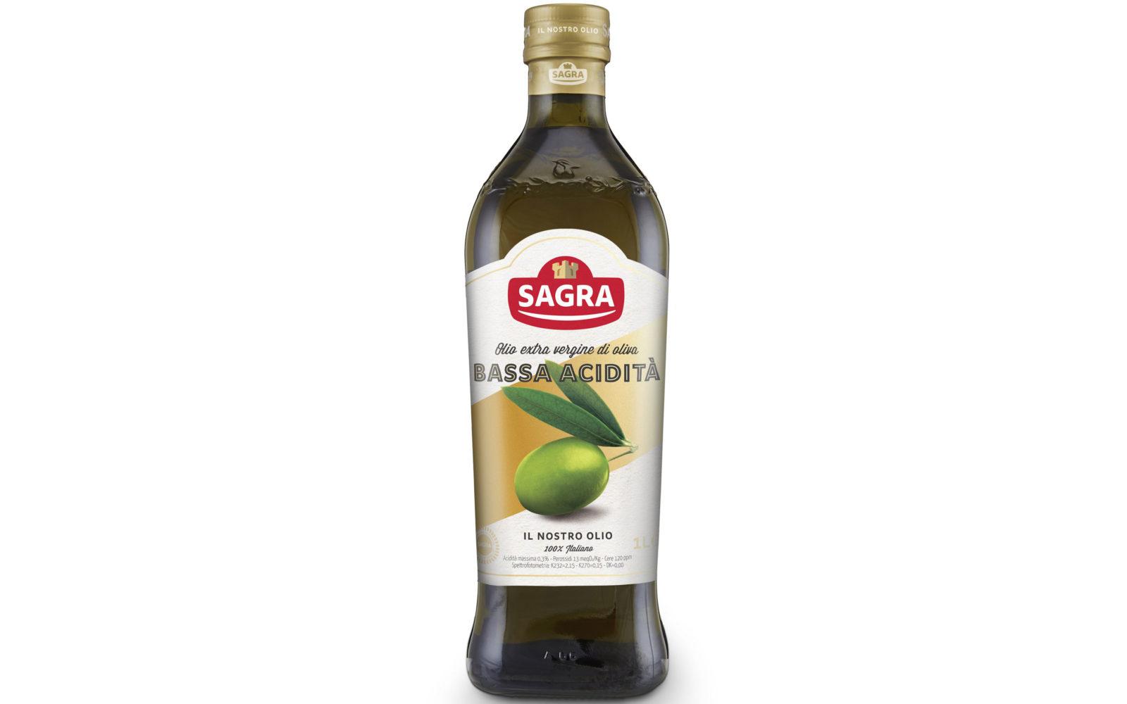 Olio extra vergine di oliva Bassa acidità Sagra