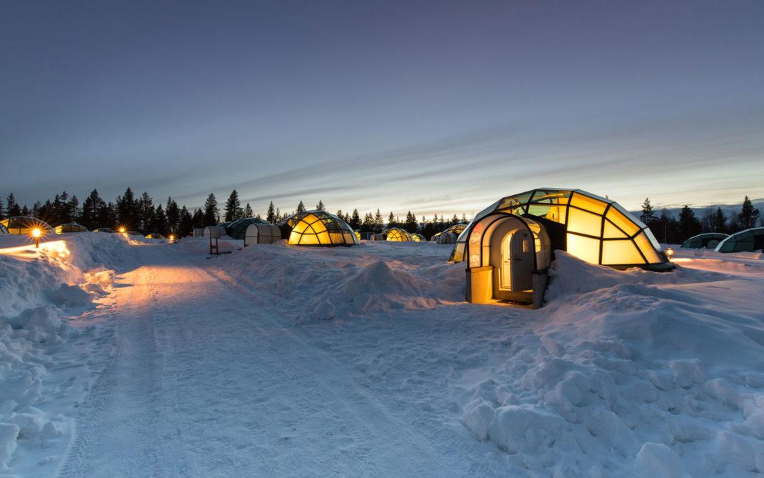 Aspettando la notte negli igloo in Lapponia finlandese