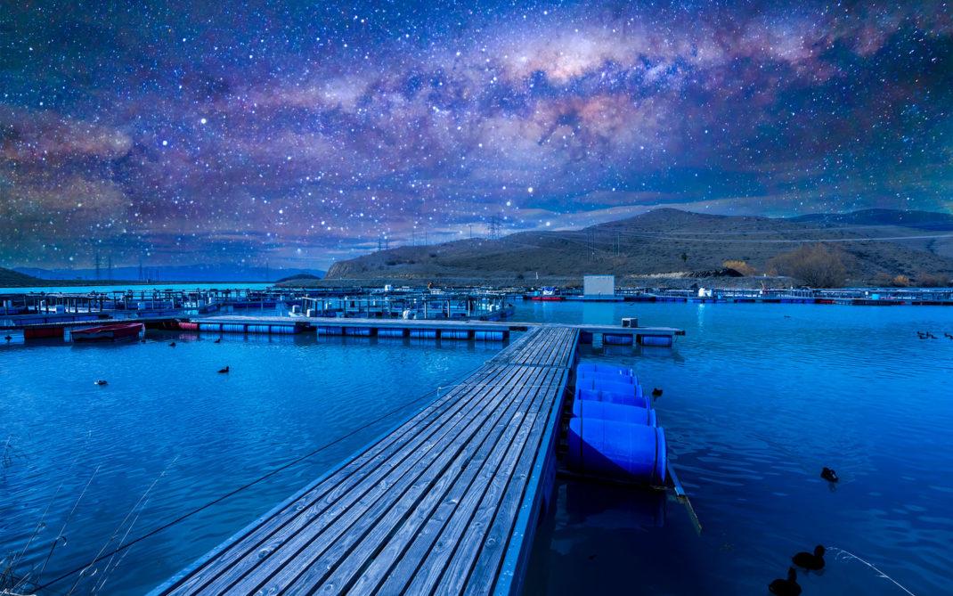 La stellata dagli ecolodge nei dintorni di Twizel in Nuova Zelanda