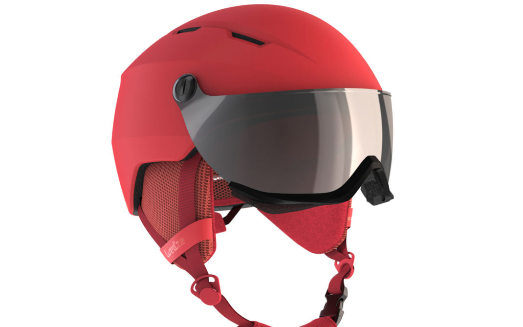Wedze by Decathlon H350, leggero e pratico per sciatrici intermedie, fori di aerazione, cuffia interna staccabile, visiera antiUV, orecchie morbide, euro 79,99