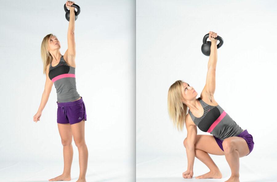 Total body workout con la kettlebell per tonificare e allungare