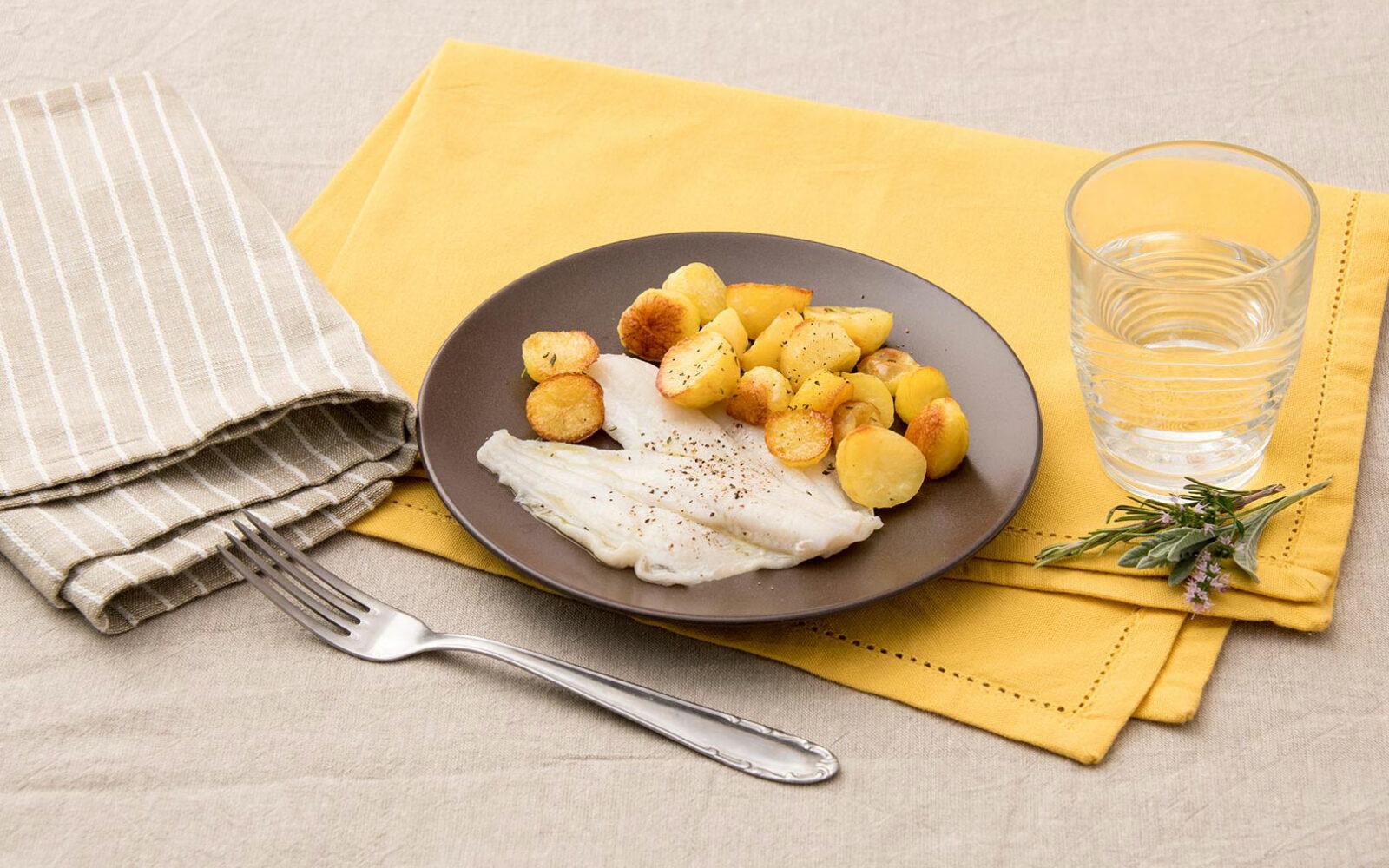 Filetti di platessa al forno con patate