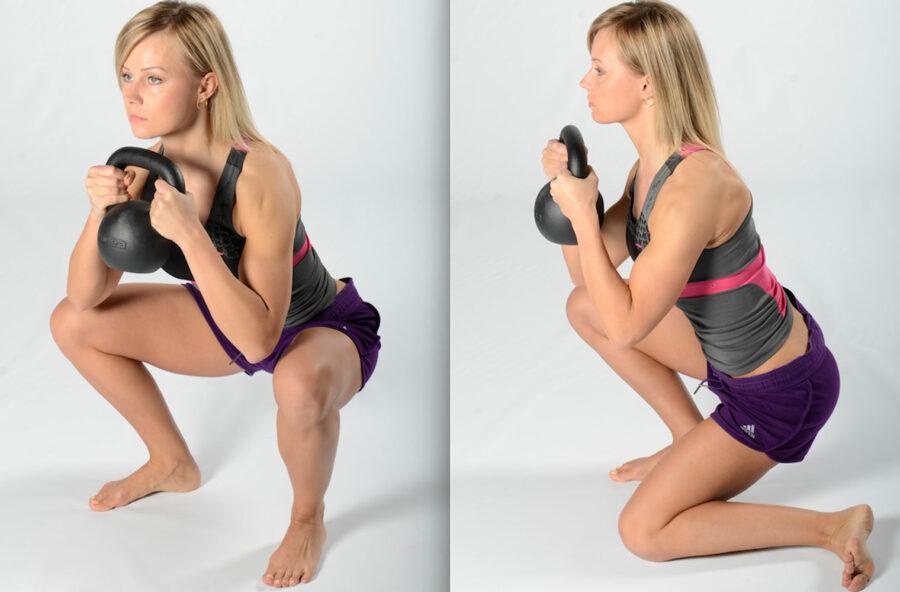 Interno coscia: prova l'esercizio con la kettlebell