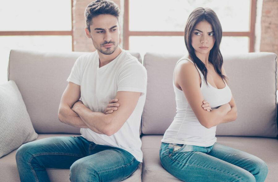 Coppia: se tieni il muso è a rischio