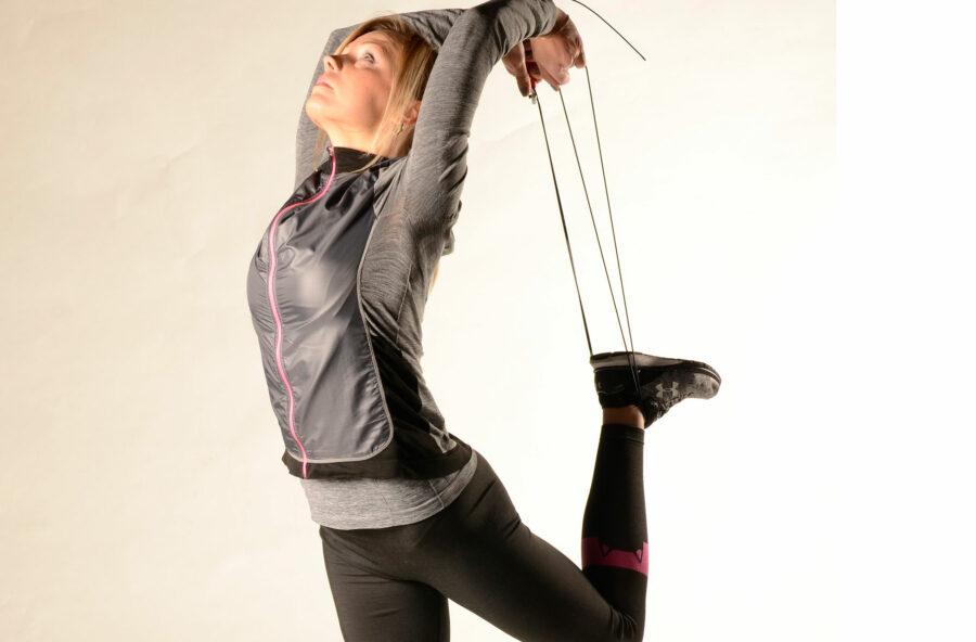 Stretching delle gambe: con la corda è più efficace