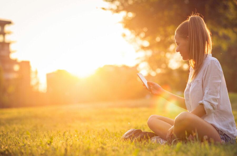 Più felice? Basta una pausa relax al parco