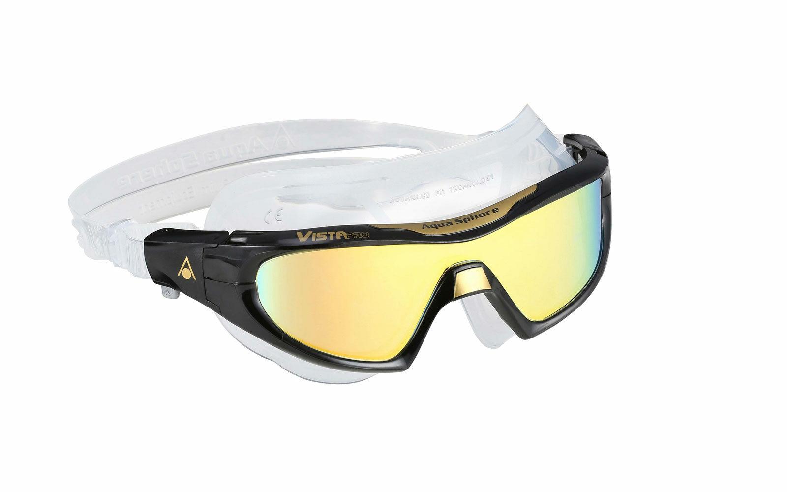 Aqua Sphere Vista Pro, mascherina da nuoto comodissima per WINDSURF e sport su tavola: lenti antiappannanti con filtro UVA/UVB, fibbia a regolazione rapida, facciale in morbido silicone ipoallergenico. Da euro 49,90 secondo il tipo di lente