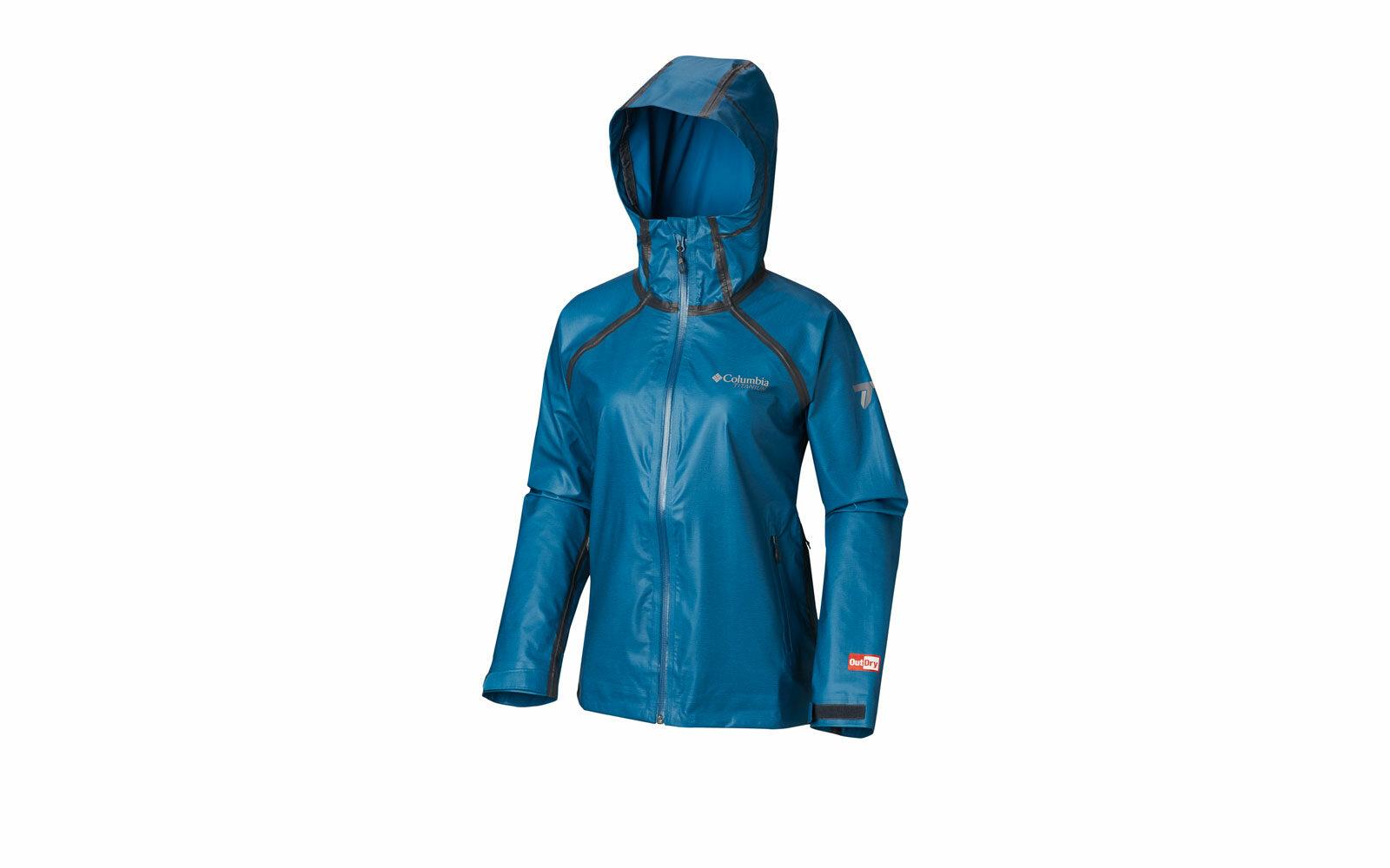 Columbia OutDry ex Reing, giacca antipioggia impermeabile e traspirante, cuciture termosaldate, ventilazione ascellare, multiregolazioni, euro 169,99