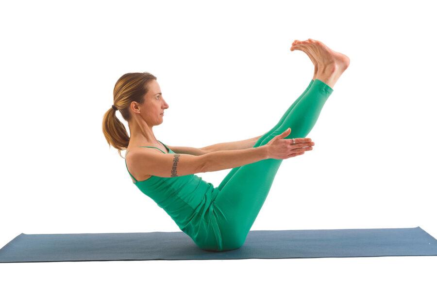 Yoga: pancia piatta con la posizione della Barca