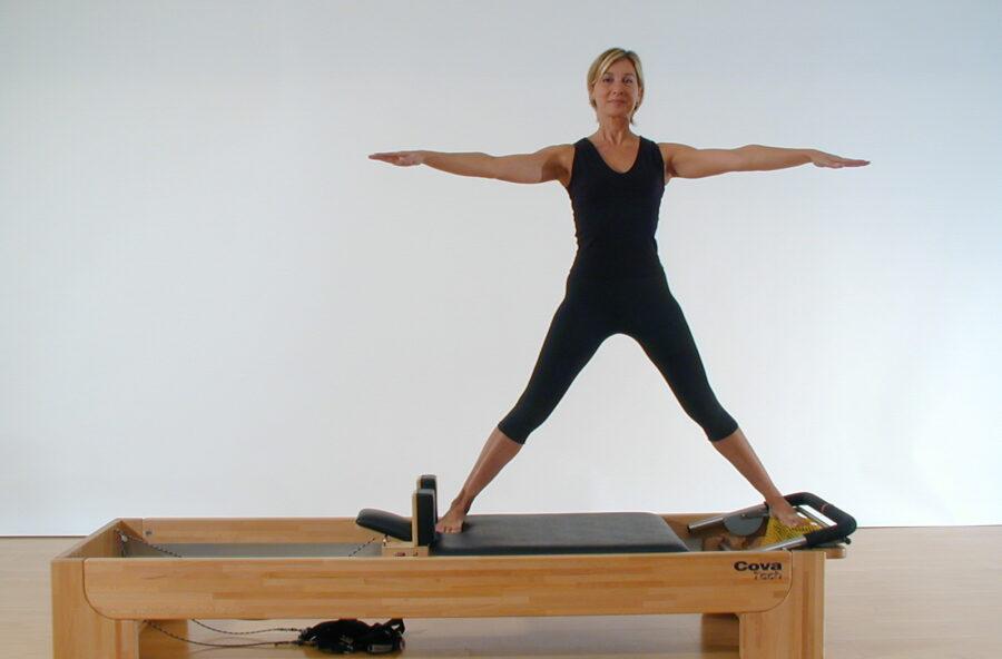 Pilates, rimodella interno ed esterno coscia sul Reformer