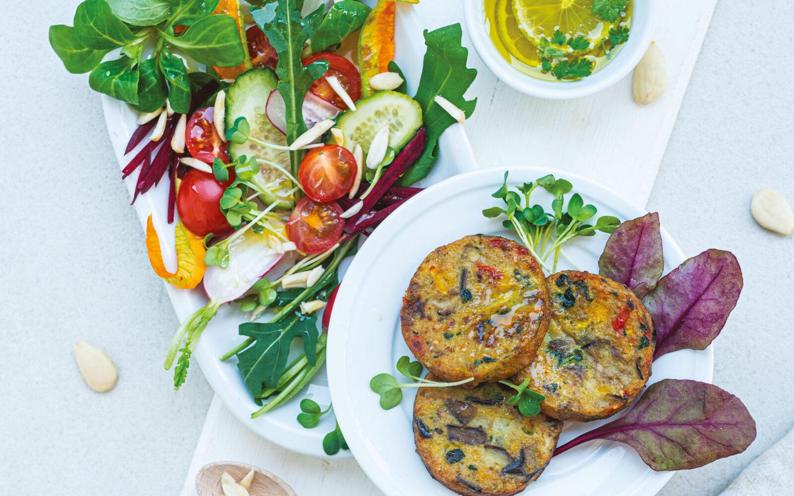 Meraviglie con Verdure Grigliate e insalata mista